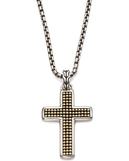 Classic Chain Collection Sterling Silver Cross Necklace