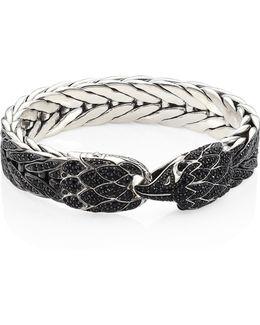 Legends Eagle Black Sapphire & Sterling Silver Bracelet