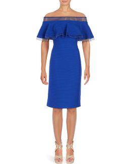 Solid Off-the-shoulder Dress