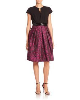 Short Sleeve Textured Dress