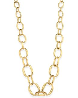 Graduating Edgy Oval Links Necklace