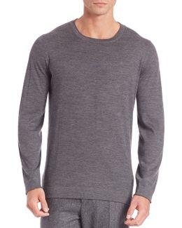 Wool-blend T-shirt Sweater