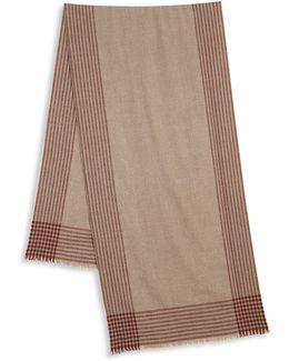 Striped Cashmere & Alpaca Blend Scarf