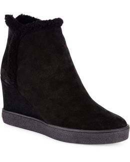 Charlie Suede Wedge Boots