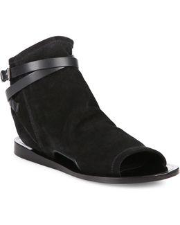 Thalia Cutout Suede Peep Toe Sandals