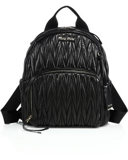Matelasse Leather Backpack