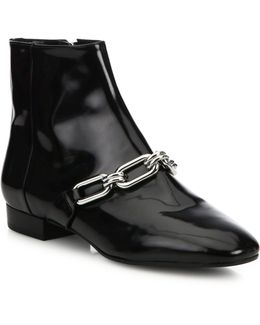 Lennox Patent Leather Booties