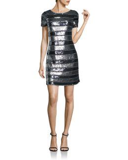Embellished Striped Dress