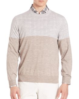 Wool & Cashmere Blend Pullover Sweater