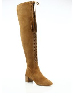 Harris Lace-up Suede Over-the-knee Boots