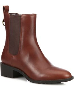 Daryl Leather Ankle Boots