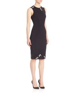 Sequin Rose Applique Dress