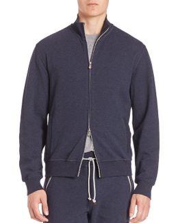 Long Sleeve Zip-front Sweatshirt