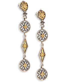 Penelope 18k Yellow Gold & Sterling Silver Drop Earrings