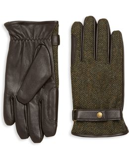 Acomb Wool Trimmed Leather Gloves
