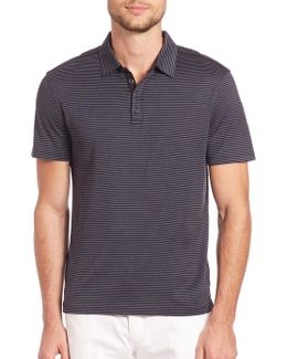 Hampton Striped Silk Blend Polo