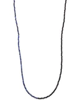 Beaded Dumortierite Strand Necklace