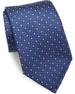 Swirl Pattern Silk Tie