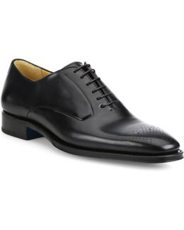Leather Brogue Oxford Shoes