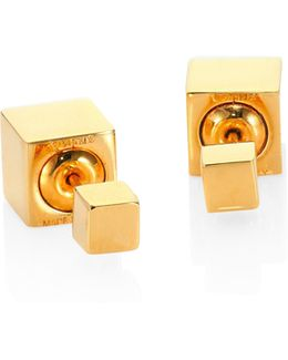 Double Cubo Stud Earrings