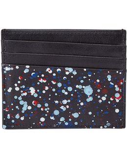 Splatter Paint Leather Card Case