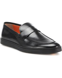 Sneaker Sole Leather Penny Loafers