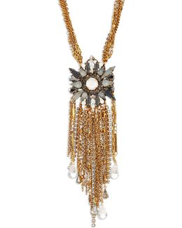 War Of The Roses Swarovski Crystal Fringe Necklace