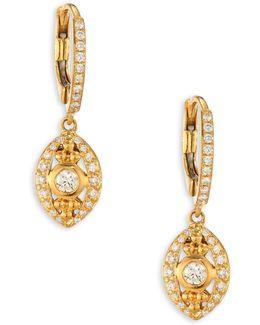Evil Eye Diamond & 18k Yellow Gold Drop Earrings