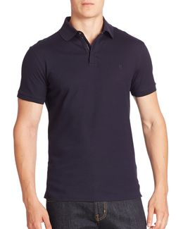 Purple Label Solid Zip Polo