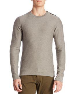 Float Button-shoulder Cashmere Sweater