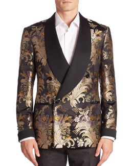 Purple Label Shawl-collar Silk Formal Jacket