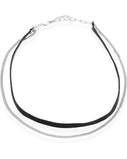 Ivy Cameron Leather & Sterling Silver Choker