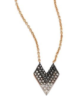 Shades Of Love Diamond & 14k Rose Gold Pendant Necklace