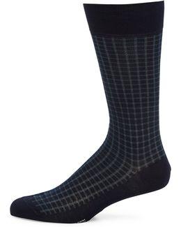 Gifford Mini Gingham Grid Socks