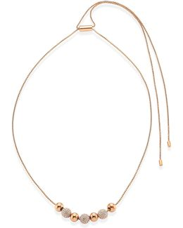 Brilliance Pave Beaded Necklace/goldtone