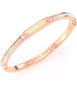 Brilliance Astor Pave Bangle Bracelet/rose Goldtone