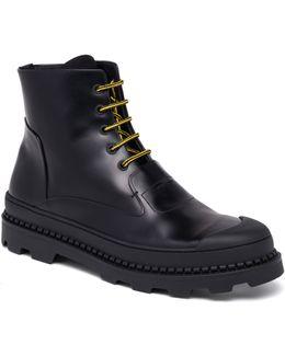 Palladium Calf Leather Combat Boots