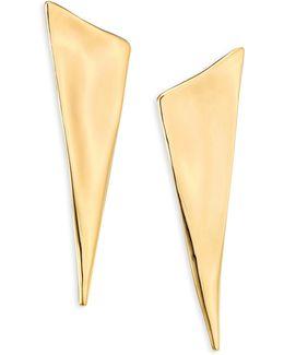 Liquid Gold Angled Pyramid Earrings