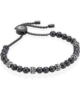 Pave Beaded Slider Bracelet