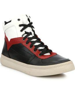 Spaark Leather Mid-top Sneakers