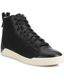 Caviar Tempus Diamond Leather Sneakers