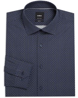 Slim-fit Printed Cotton Dress Shirt