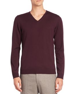 Milton V-neck Virgin Wool Sweater