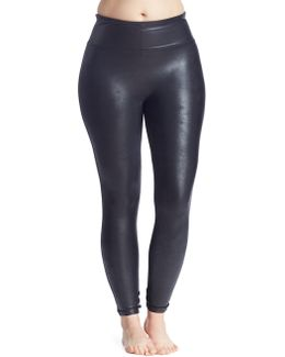 Plus Faux-leather Leggings