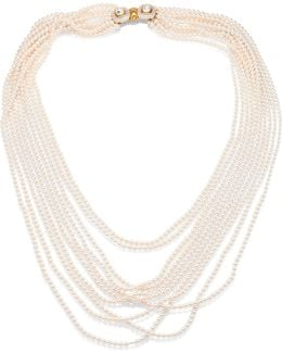 Multi Strand Faux-pearl Necklace