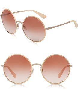 56mm Round Mirrored Sunglasses