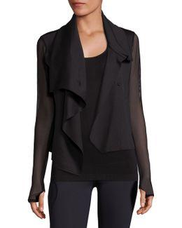 Sophisticated Drape-front Jacket