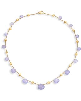 Paradise Chalcedony & 18k Yellow Gold Graduated Short Necklace