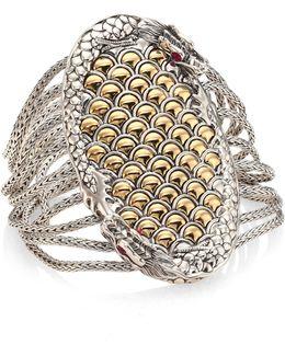 Legends Naga Ruby, 18k Yellow Gold & Sterling Silver Bracelet