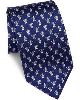 Bear Silk Tie